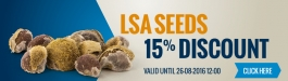 15% Discount LSA Seeds